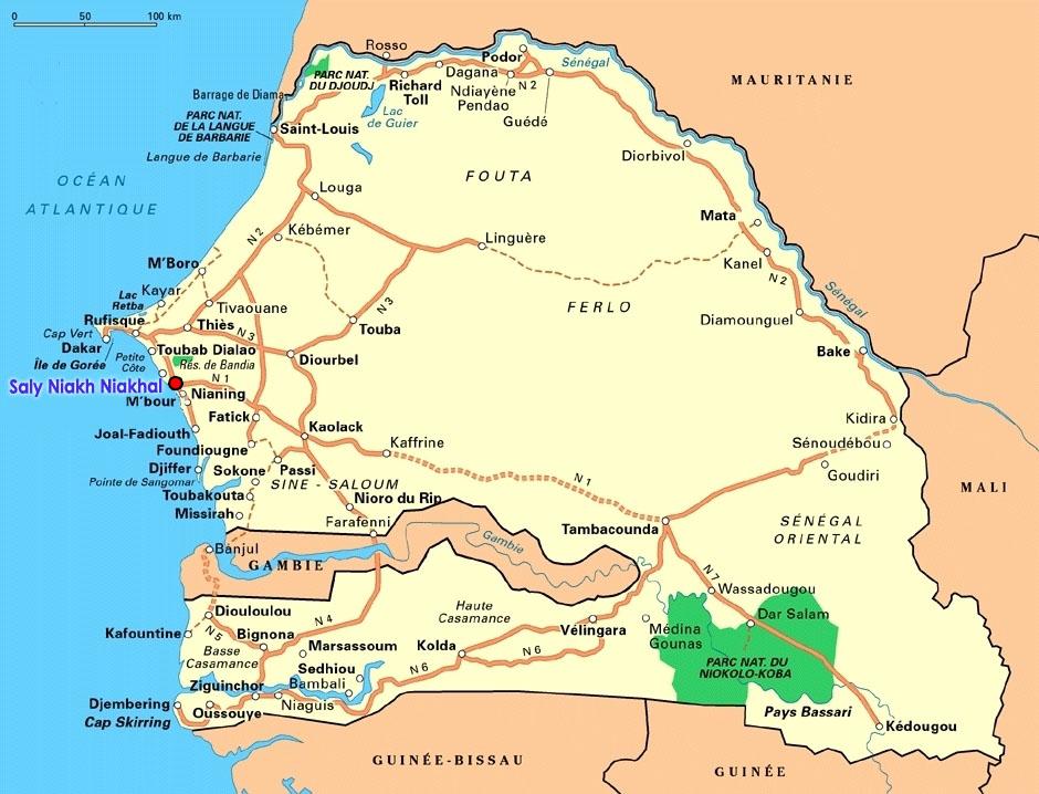 Saly Senegal  city photos gallery : ... Tukki vue satellite sur Google Earth Saly Niakh Niakhal, Sénégal