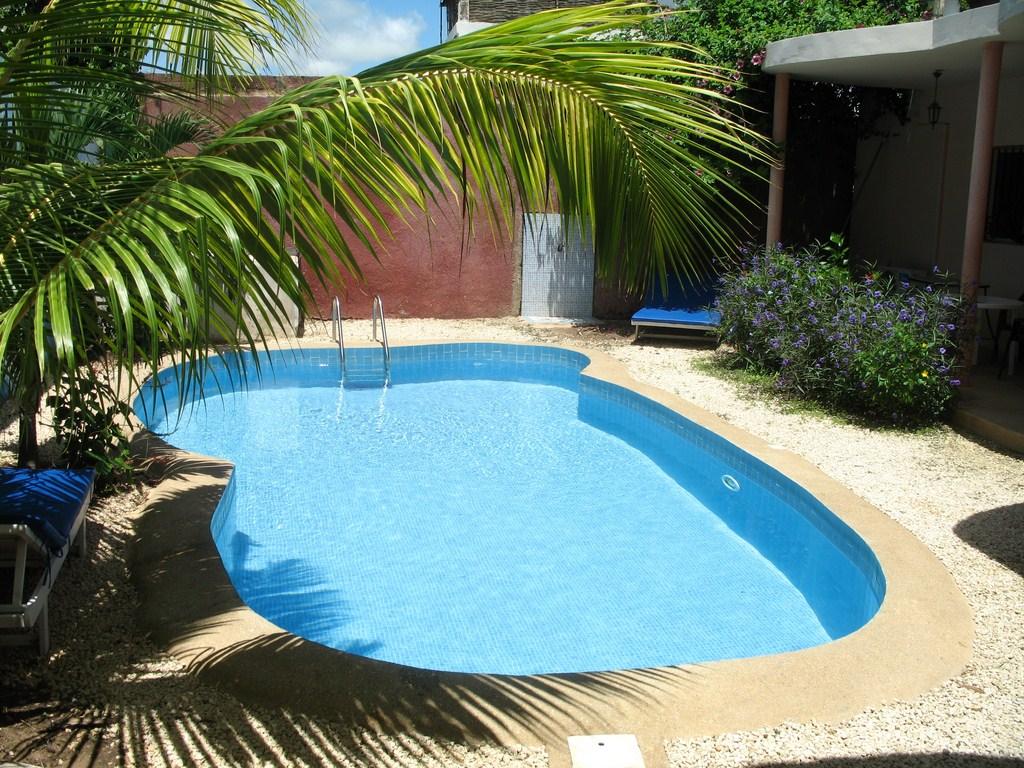 Photos des plans de la villa ker tukki en 3d for Piscine jardin youtube